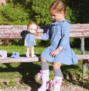 Vestido para niña y muñeca